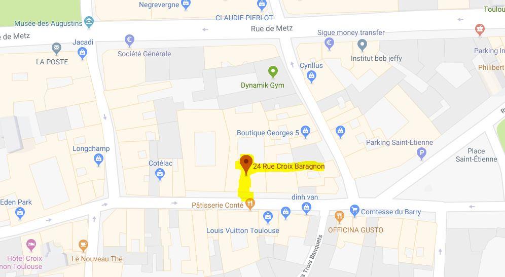 Plan : 24 rue Croix Baragnon